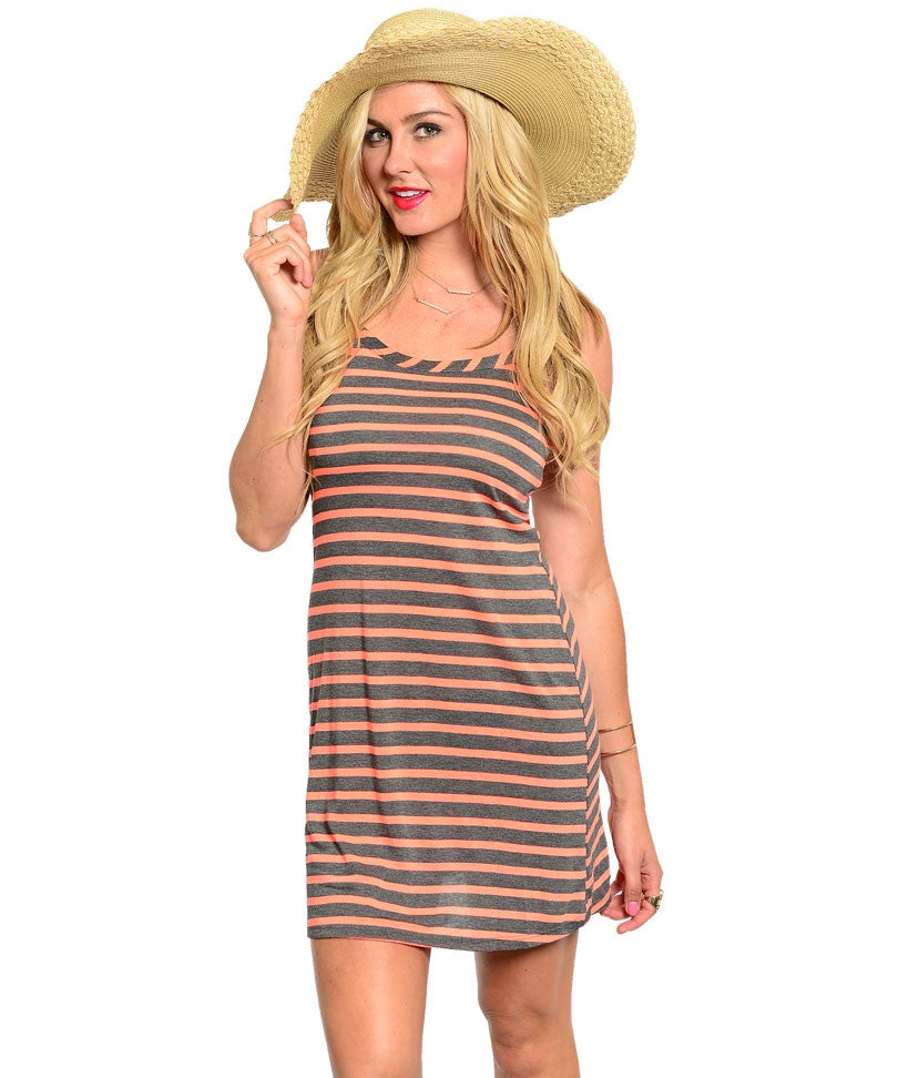 Striped Racer Back Dress