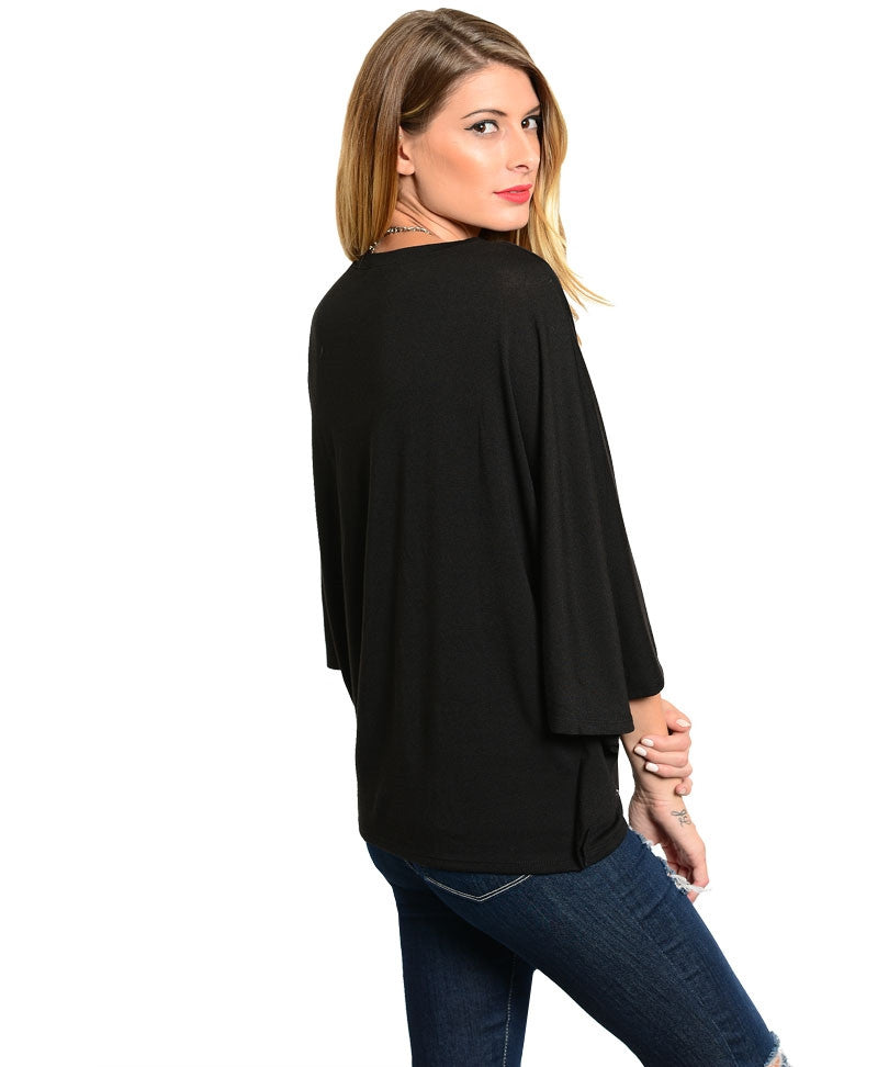 Black Batwing Cardigan