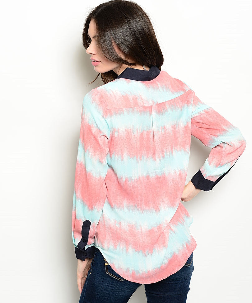 Pink Mint Dyed Shirt