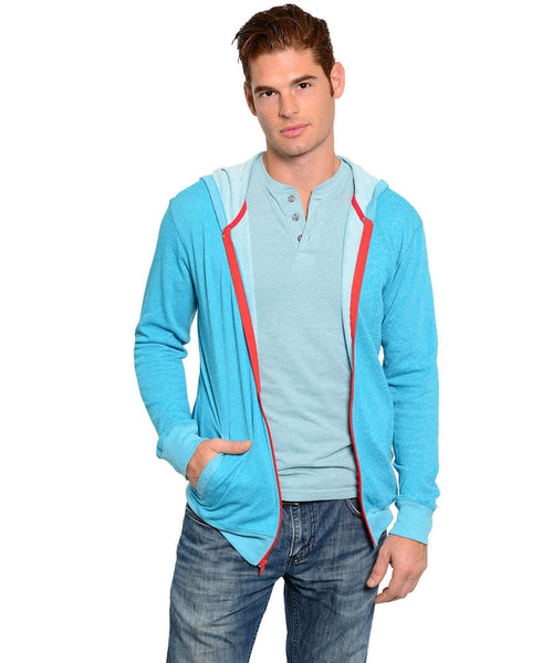 Light Blue Pocket Hoodies