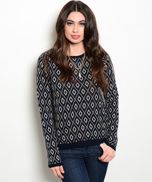 Diamond Navy Sweater