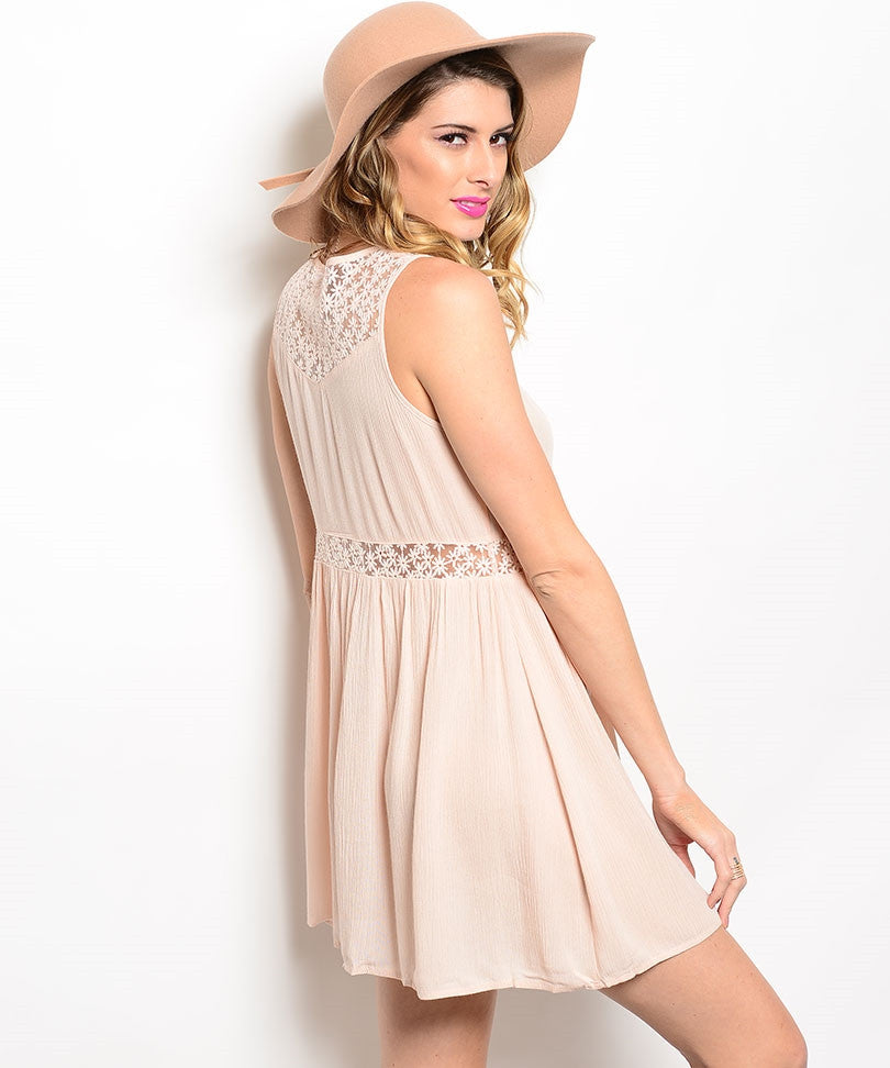 Daisy Lace Pink Dress