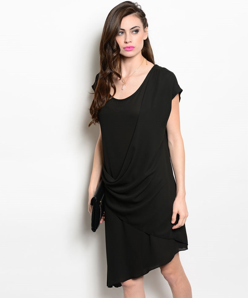 Modern Shift Asymmetrical Dress
