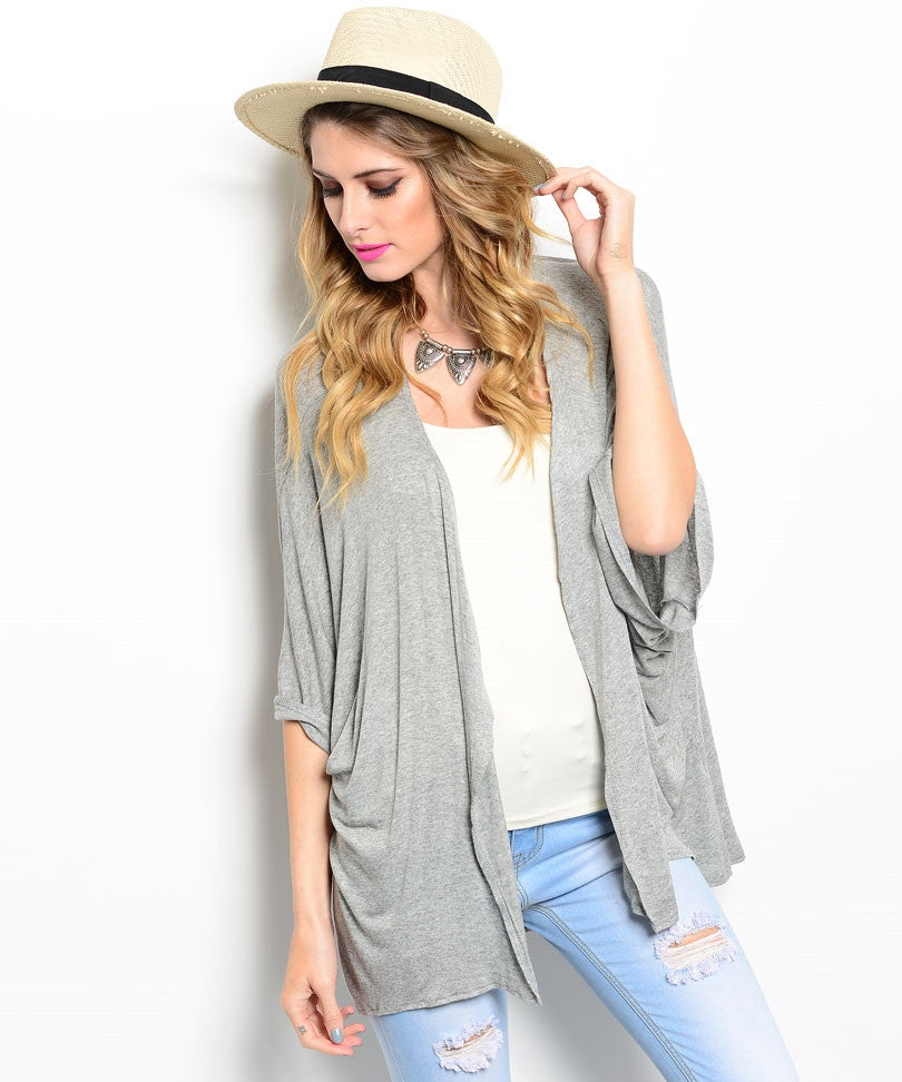 Lightweight Gray Cardigan