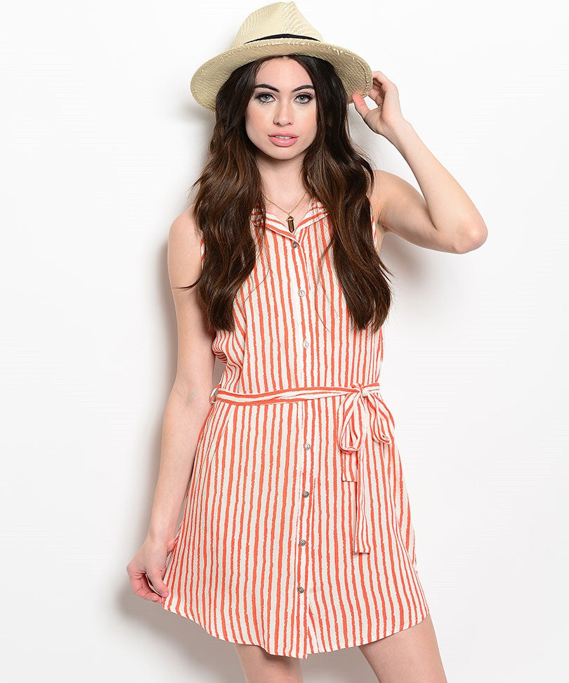 Nautical Striped Shirt Dress