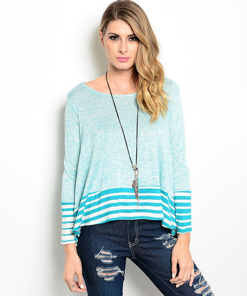 Aqua Trapeze Specked Sweater