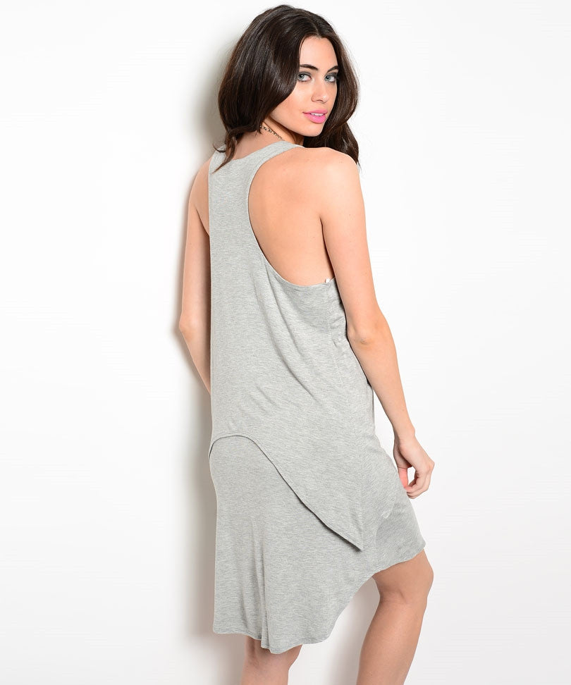 Relaxed Fit Double Layered Hem Knit Dress
