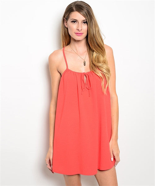 Sleeveless Racerback Coral Top