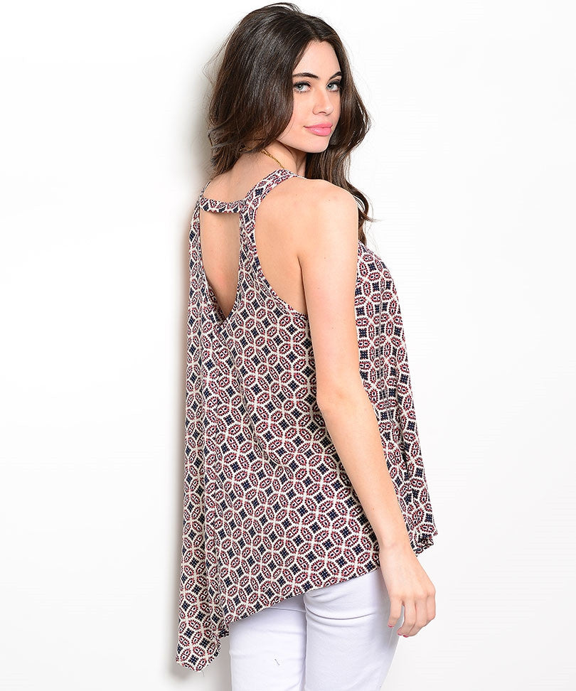 Tribal Print Trapeze Top