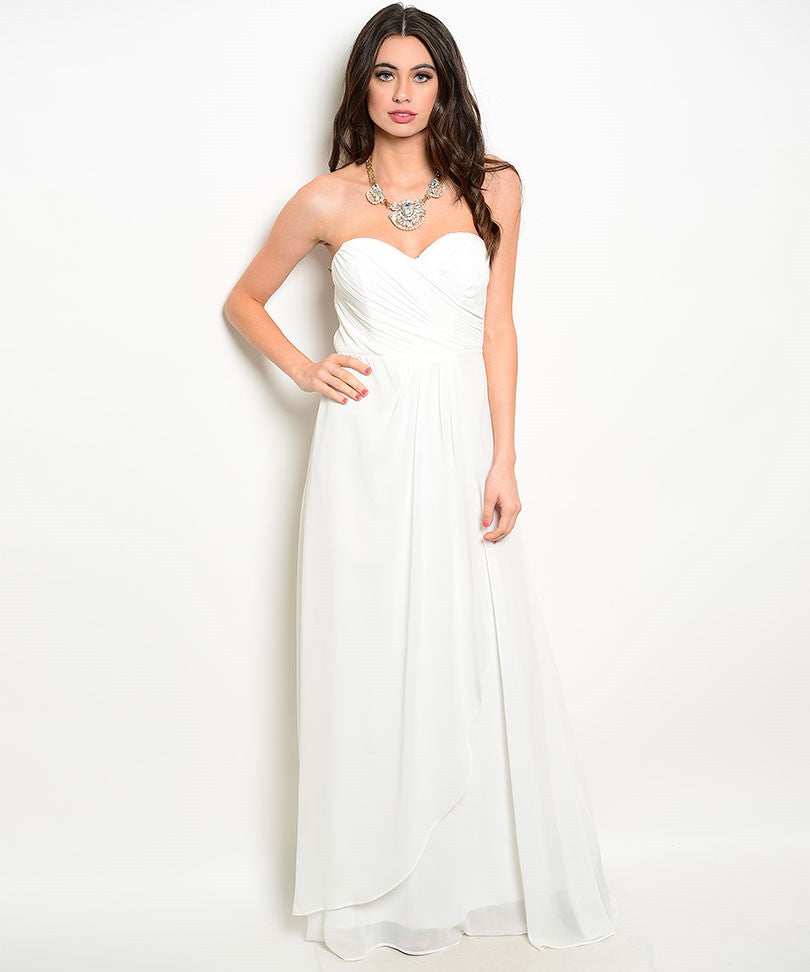 White Ivory Sweetheart Gown (Large)