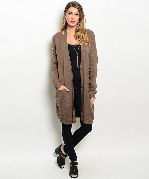 Long Brown Sweater Cardigan (Sold Out)