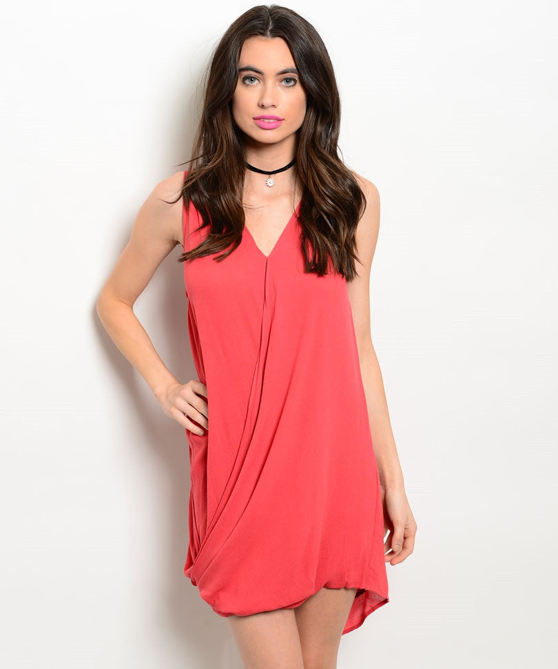 Rose Sleeveless Drape Dress