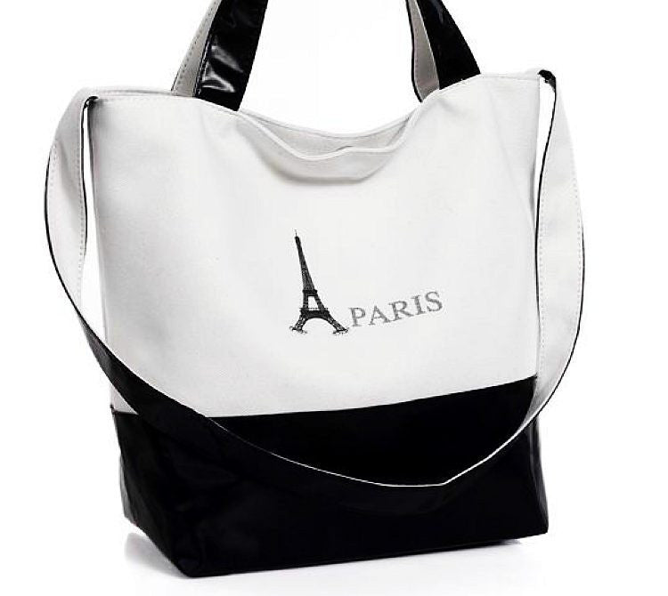 Casual Tote Shoulder Bag - Black