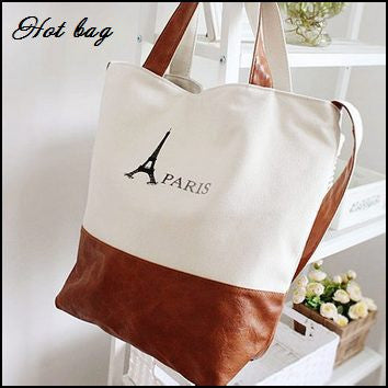 Casual Tote Shoulder Bag - Brown