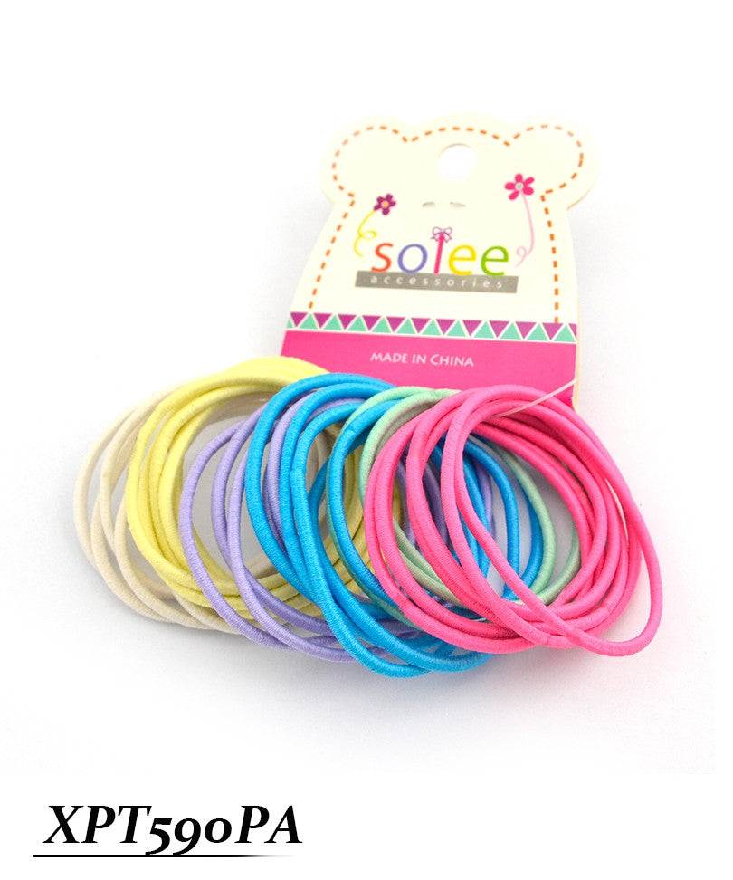 30 PC Colorful Ponytail Holders