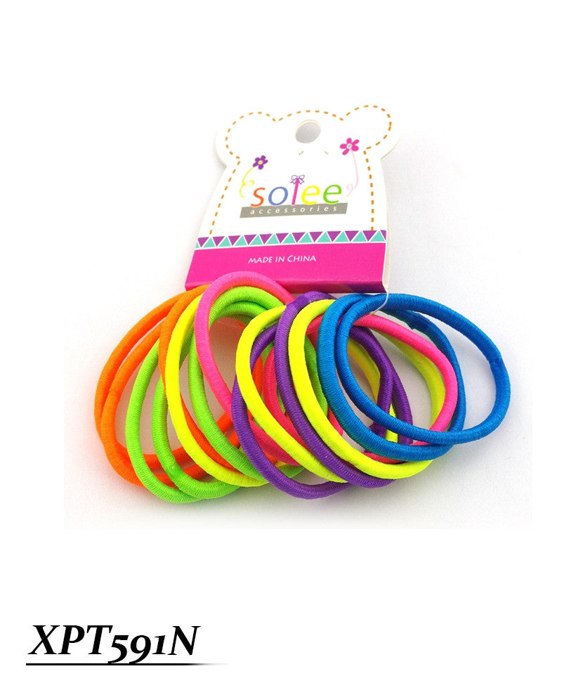 15 PC Colorful Thick Ponytail Holders