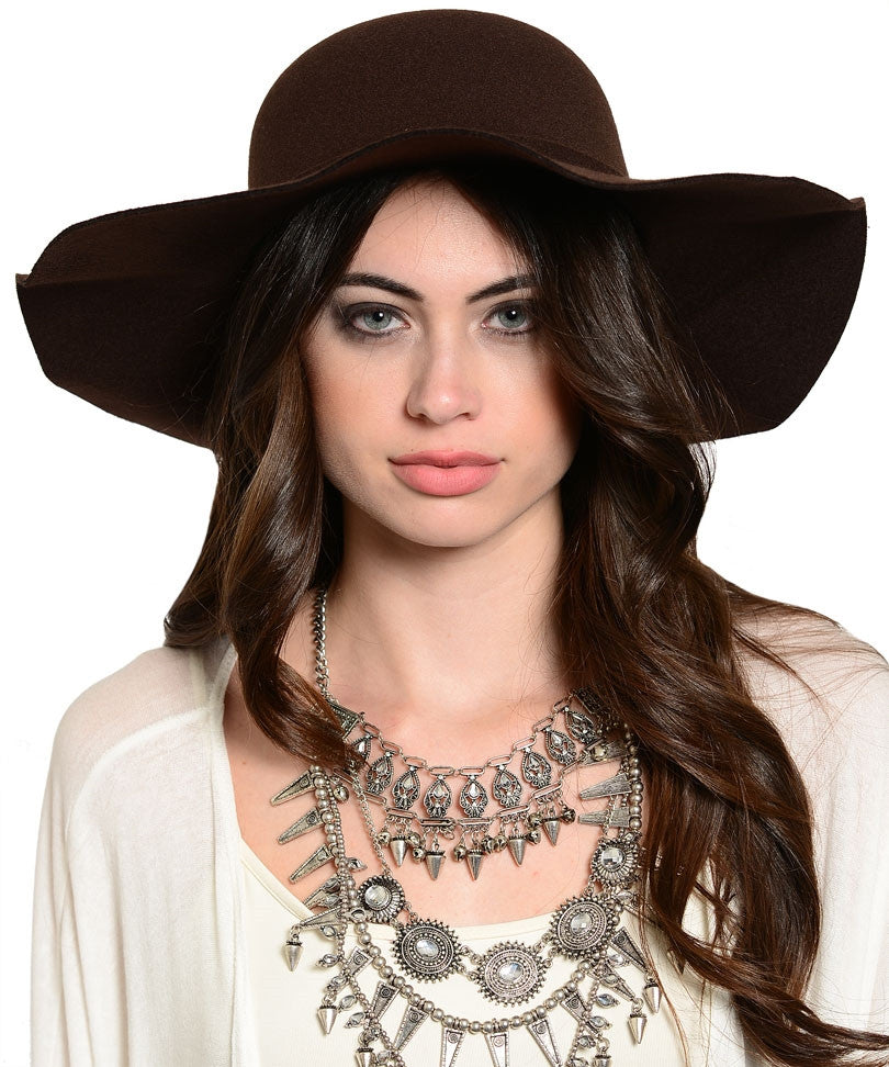 Dark Brown Derby Hat