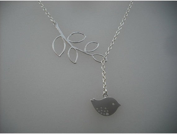 Leaf and Bird Necklace