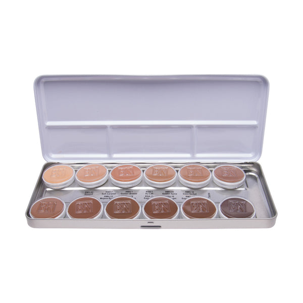 12 Color Olive Brown Foundation Palette