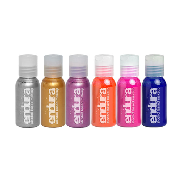 European Body Art ENDURA Fluoro Metallic 6-Pack