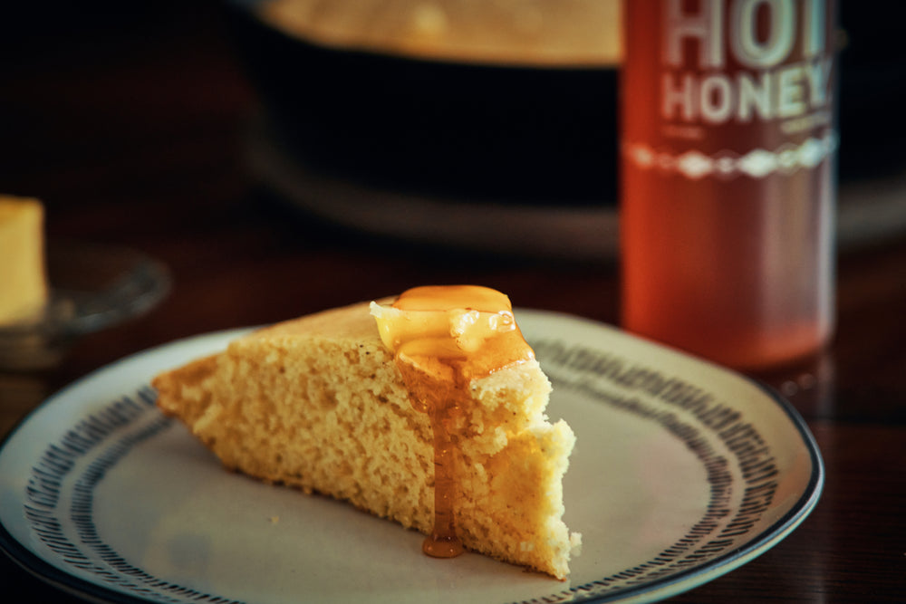 Classic Cornbread with Hot Honey