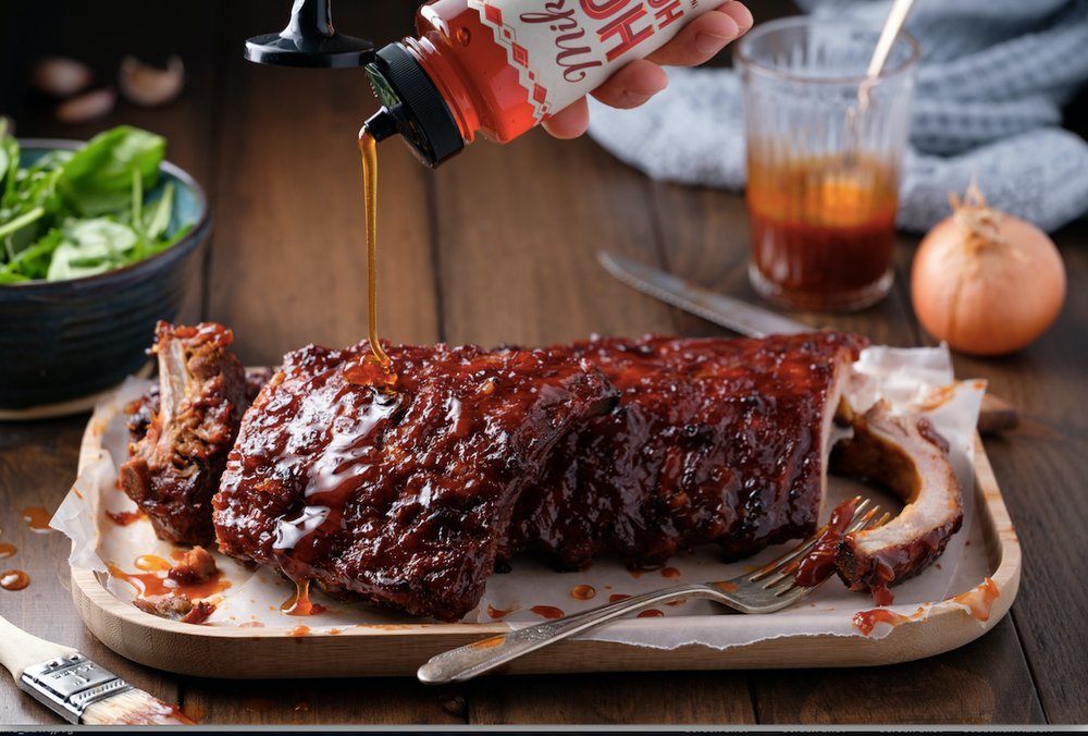 Mike's Hot Honey BBQ Ribs