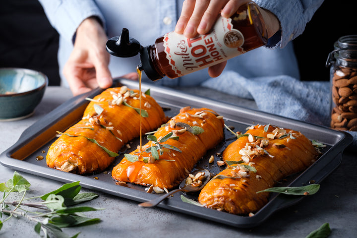 Hot Honey Hasselback Squash