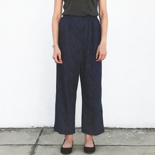 Wide leg pants (Heather Blue)