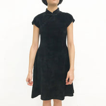 Load image into Gallery viewer, Corduroy Qipao Dress, Black