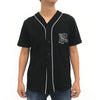 'HK' Jersey Baseball Shirt, Black