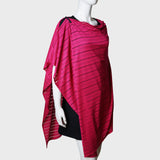 'Wai Ying' cape shawl (Crimson Pointelle) | Goods of Desire