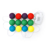 'Pom Pom' decorative lights (string of 12)