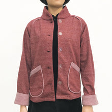 Load image into Gallery viewer, Chinese Collar Fleece Sung Jacket, Red