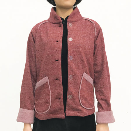 2-Way Cape Jacket, Burgundy