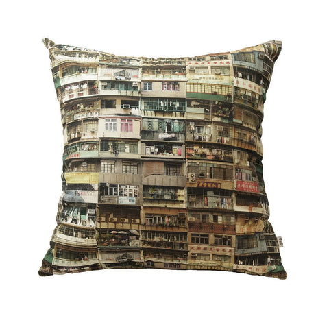 'Yaumati' multicolour cushion cover (45 x 45 cm)