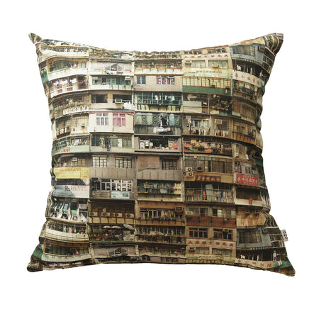 'Prosperity' cushion cover (Light Blue / Teal) (45 x 45 cm)