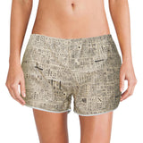 'Newspaper' women boxer shorts