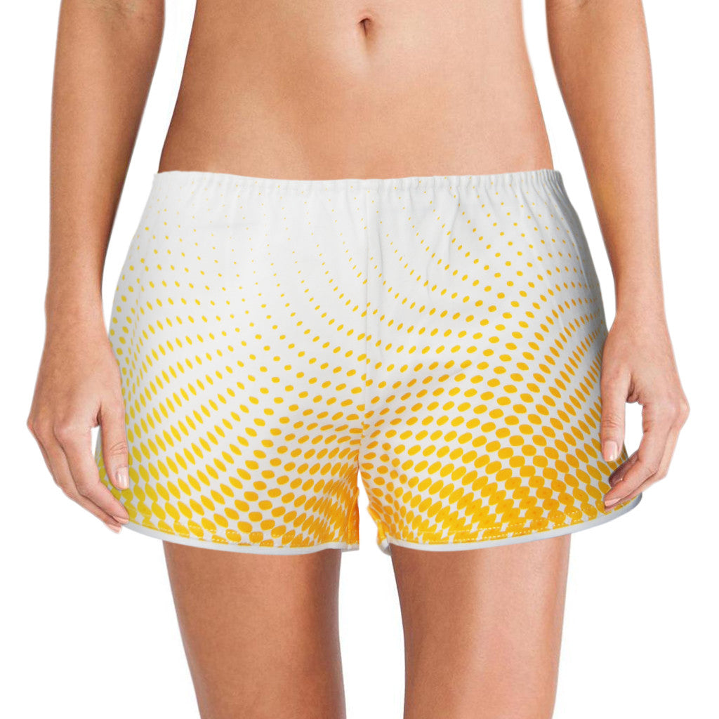 'Dots' women boxer shorts (Yellow/white) | Goods of Desire
