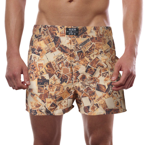 'Old Stamps' boxer shorts