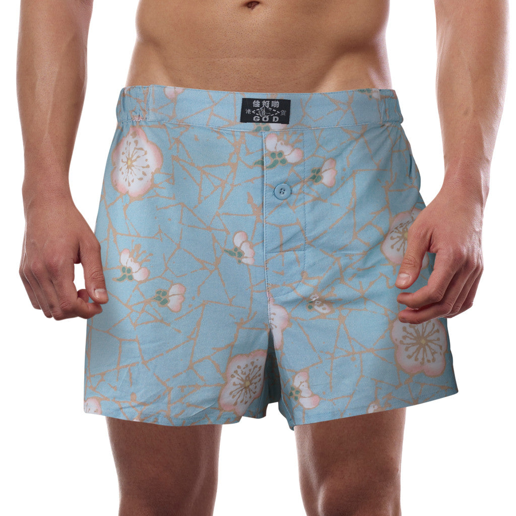 'Cherry Blossom' boxer shorts - Goods of Desire