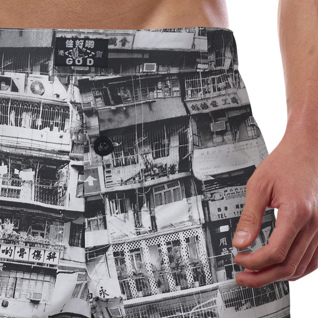 'Yaumati' boxer shorts (black/white)