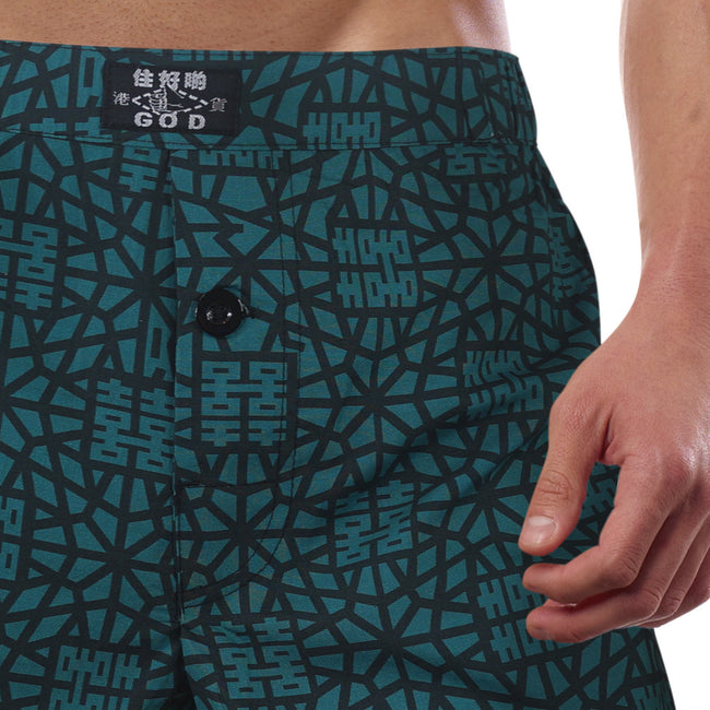 'Indigo Double Happiness' boxer shorts, Underwear, Goods of Desire, Goods of Desire