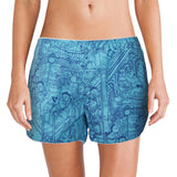 'Hundred Kids' women boxer shorts (azure)