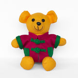Bear with Fuchsia Chinese Jacket, Yellow