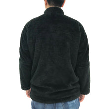 Load image into Gallery viewer, Chinese Plush Jacket, Black