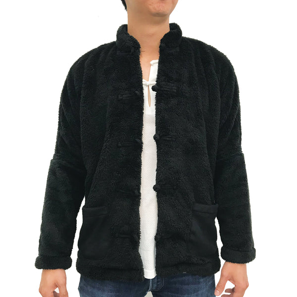 Chinese Plush Jacket, Black