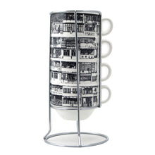 Load image into Gallery viewer, 'Yaumati' stackable mugs (black and white outline)