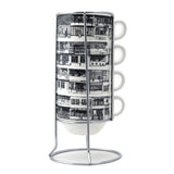 'Yaumati' stackable mugs (black and white outline)