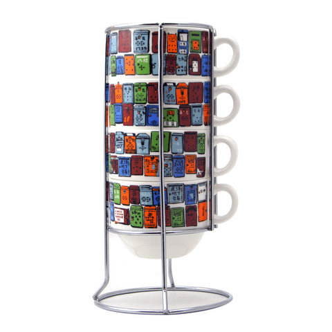 'Letterbox' stackable mugs
