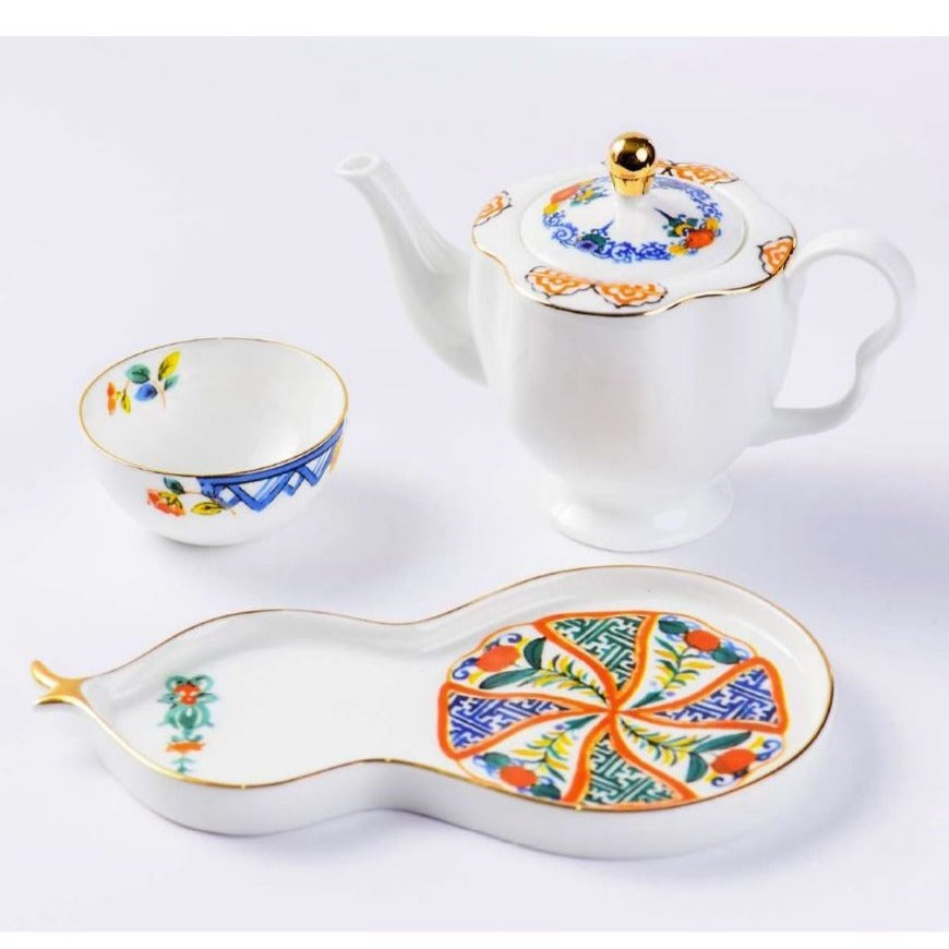 ByLeona The Hu-lu Fine Bone China Series Teapot Set